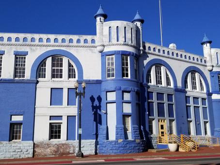 The Blue castle in Navy Yard