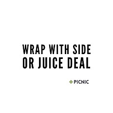 WRAP WITH SIDE OR JUICE