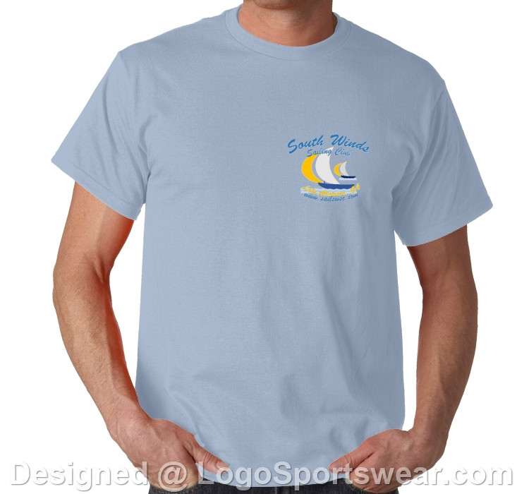 Light blue shirts are $14 each