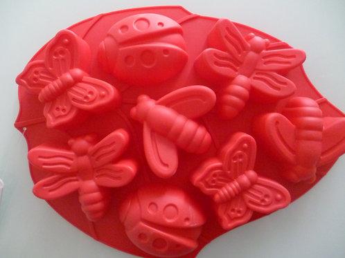 "Силиконовая форма  ""Бабочки, стрекозы"", Vetta, КНР, 8 ячеек, 28х21х3 см."