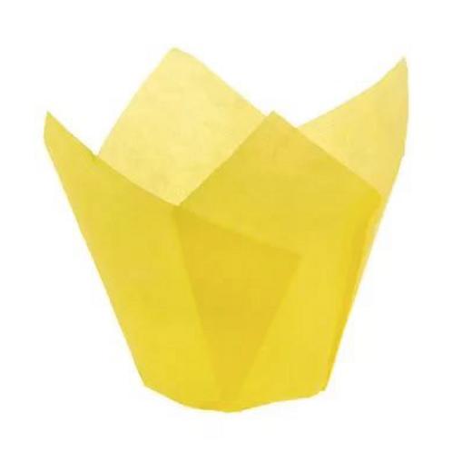 Форма бумажная Тюльпан 50/70 ЖЕЛТАЯ 200 шт/упак