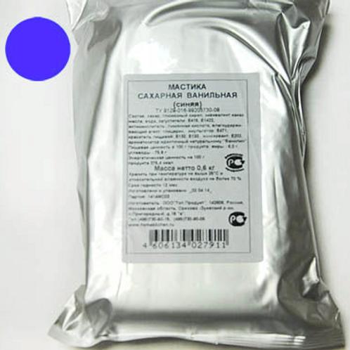 Мастика сахарная ванильная, синяя, в ассортименте, 600 гр., Россия