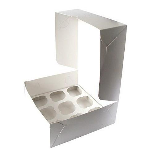 Упаковка для маффинов белая CUP9 ячеек 250х250х100 Pasticciere