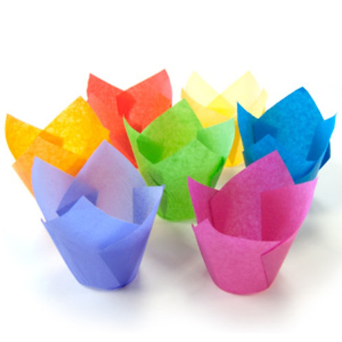 Форма бумажная Тюльпан 100 шт/упак (ассортимент)