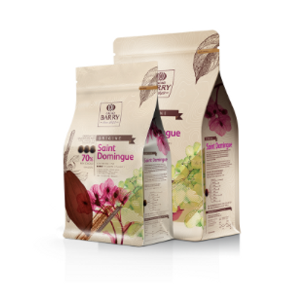 Шоколад кувертюр горький SAINT DOMINGUE 70% Cacao Barry 1кг
