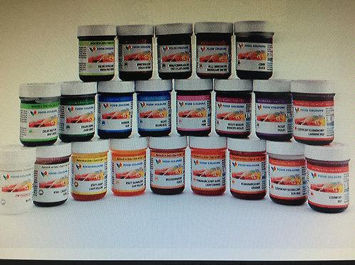 Гелевые красители в баночках, 35 гр., в ассортименте, Food Colours, Польша