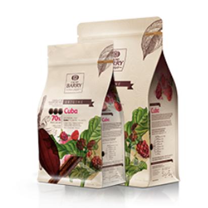 Шоколад кувертюр горький CUBA 70% Cacao Barry 1 кг