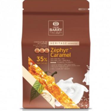 Шоколад белый с карамелью Zephyr Caramel Cacao Barry (Франция), 0.5 кг