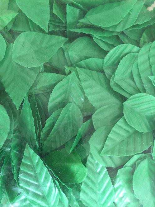 """Вафельные листья """"Лист розы"""", зеленый, KZ  300шт/упак"""