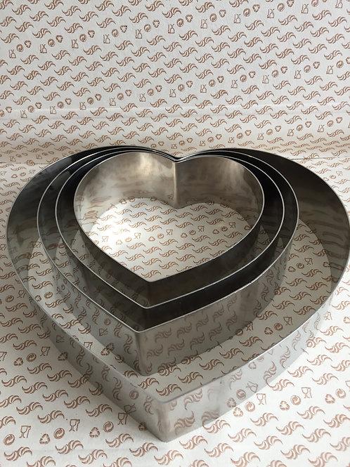 Форма  для муссового торта сердце 14 см. (в ассортименте)