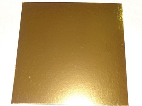 Подложка ПЛОТНАЯ прямоугольная золото 30х40 см толщ.3мм