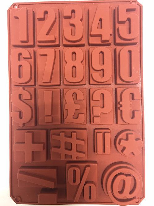 Форма силиконовая Цифры