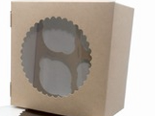 Коробка ECO MUF 4 для маффинов, 4 ячейки