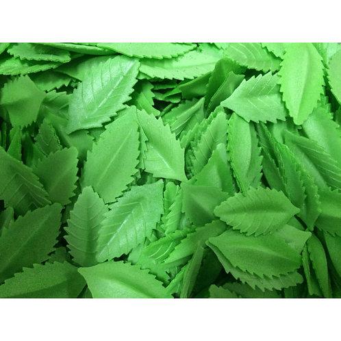 """Вафельные листья """"Лист розы"""", зеленый 10шт/упак"""