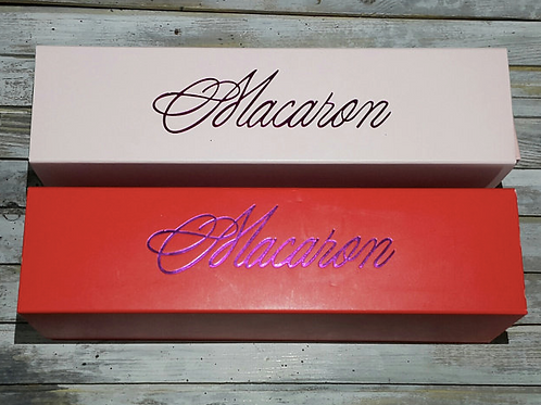 Коробка для макарон 6 ячеек (красные в наличии)