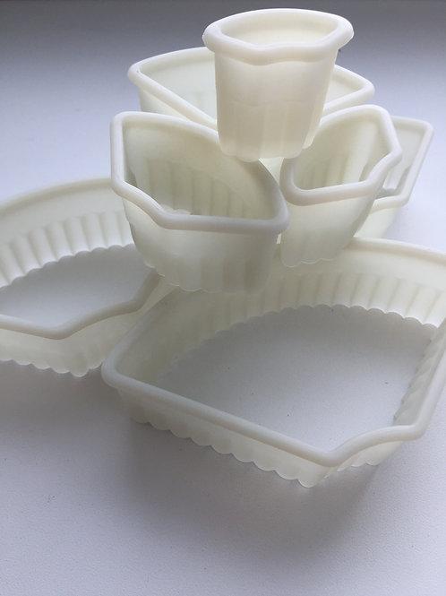 Высечка для теста рифленная, пластиковая, 7 шт.