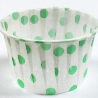 Форма бумажная МАФФИН 50х40мм зеленый горох 100шт/упак