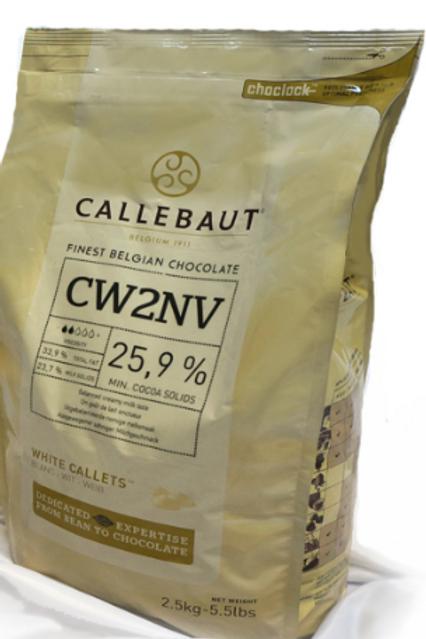 Шоколад белый Callebaut 25,9% 2,5 кг., Бельгия