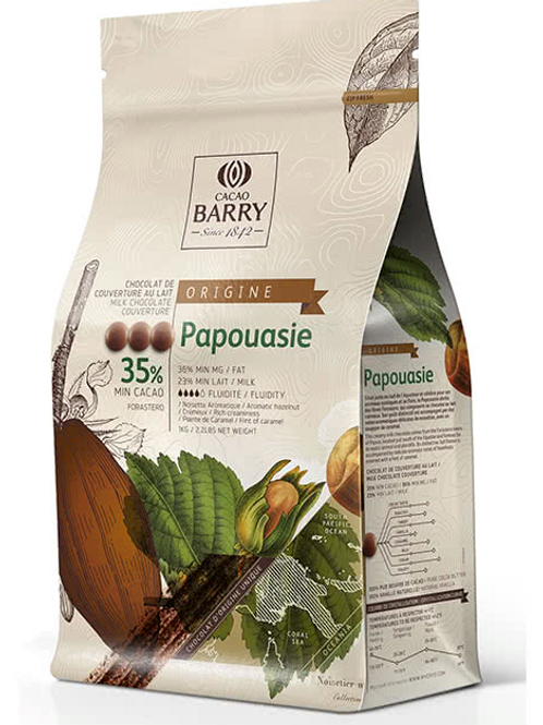 Молочный шоколадный кувертюр PAPOUASIE 35.8% Cacao Barry 1кг