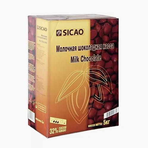 Шоколад молочный Сикао 32%  Callebaut 0,5кг