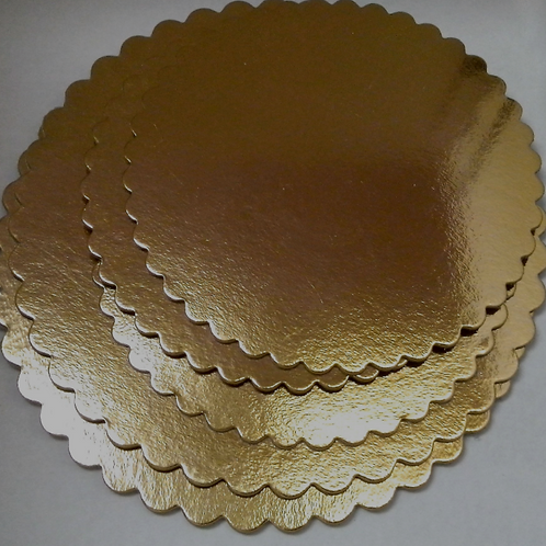 Подложка под торт (золото) фигурная, d-26 см., Италия