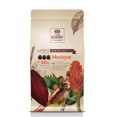 Шоколад кувертюр горький MEXICO 66% Cacao Barry 1 кг
