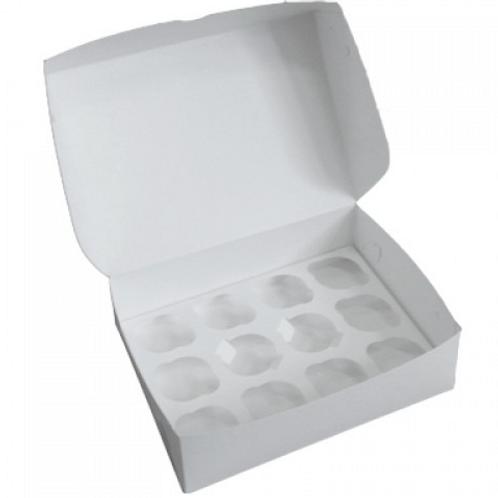 Упаковка для маффинов белая CUP12 ячеек 330х250х100мм Pasticciere