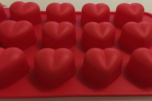 "Форма силиконовая для конфет ""сердце"", Vetta, 15 ячеек 21х10,5х2 см."