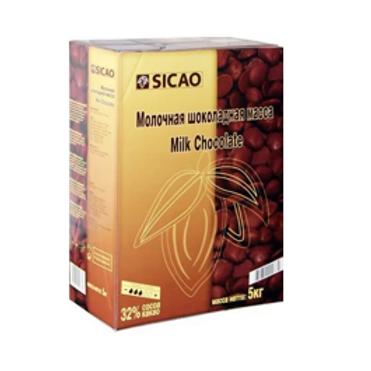 Шоколад молочный Сикао 33% Callebaut 1кг