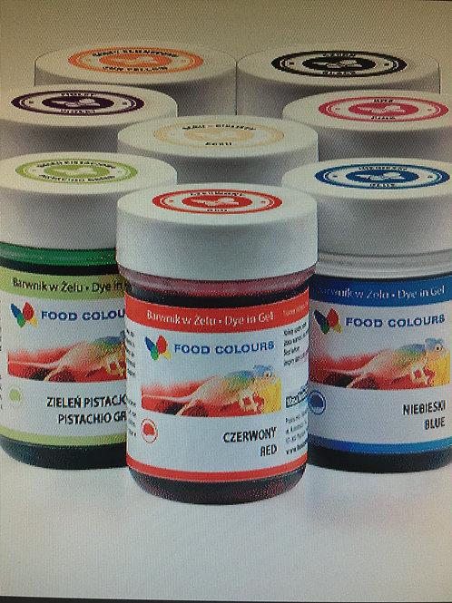 Набор гелевых красителей Food Colours, 8 шт по 35 гр., Польша