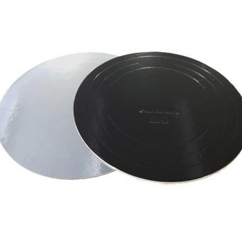 BCD260 (3,2) Подложка усиленная черная/серебро Pasticciere d26 h3,2