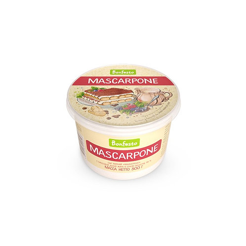 Сыр Маскарпоне 78% 500 г., BONFESTO, Беларусь