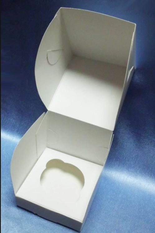 CUP1 Упаковка для маффинов белая 1 ячейка 100х100х100мм