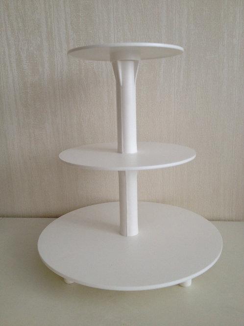 Подставка для торта 3 яруса, пластмассовая