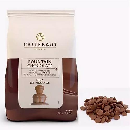 Шоколад молочный для фонтанов Callebaut 37,8%, 2,5 кг