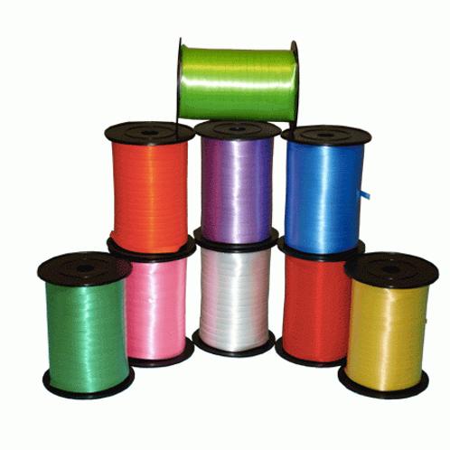 Лента декоративная 0,5см*500м (золотая, красная, салатовая, голубая, роз, желт)