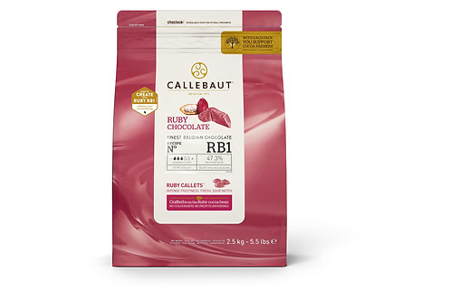 Шоколад Ruby Callebaut 47,3% 1кг.