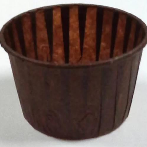 Форма бумажная МАФФИН 50х40мм коричневая, 100шт/упак