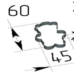 Высечка МИШКА 60х45х20