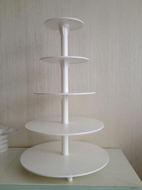 Подставка для торта 5 ярусов, пластмассовая