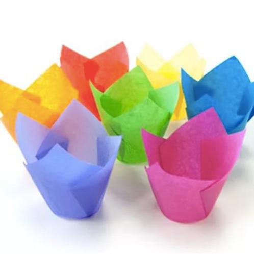 Форма бумажная Тюльпан 50/80 микс 100 шт/упак