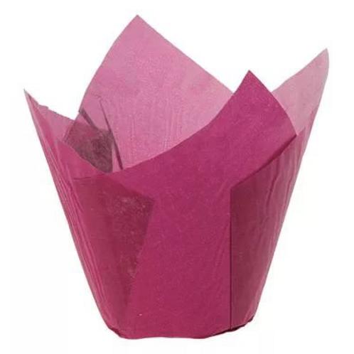 Форма бумажная Тюльпан 50/70 БОРДОВАЯ 200 шт/упак