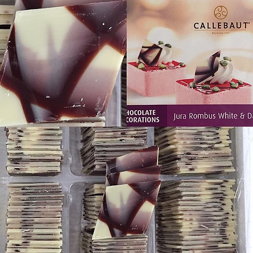 Декор Jura из темно-белого шоколада треугольники 90шт/упак