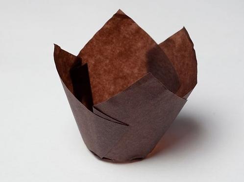 Форма бумажная Тюльпан 50/70 коричневая 200 шт/упак,Россия