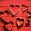 Thumbnail: Высечка металл. Сердца, 7 шт/упак