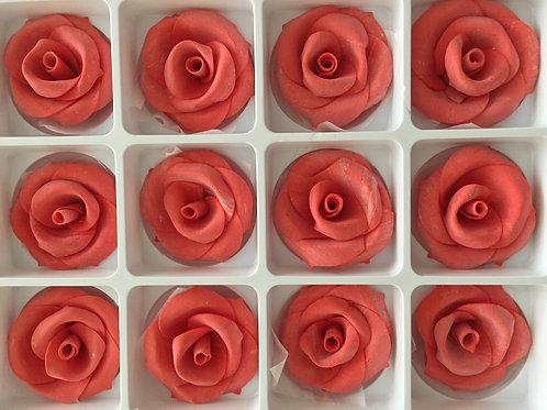Сахарная роза, красная, 1шт.