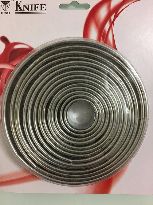 Высечка круг, металлический, 12 шт/упак