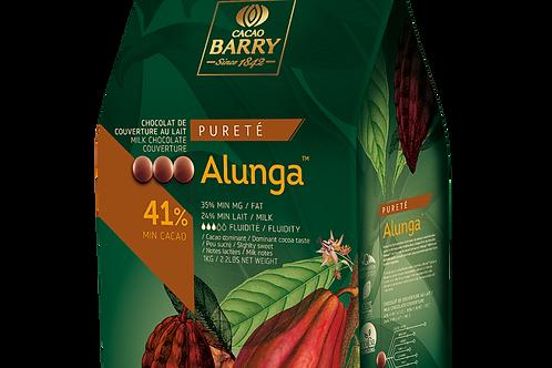 Молочный шоколадный кувертюр ALUNGA 41% Cacao Barry 100гр