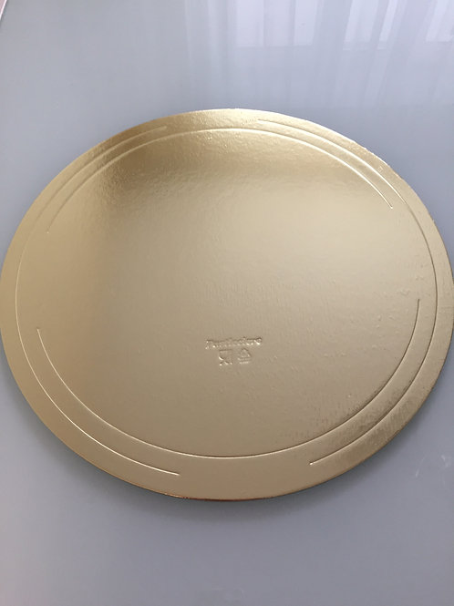 Подложка под торт, золото d-40см. h 3,5мм.