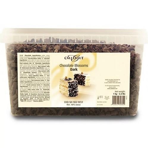 Шоколадные завитки Callebaut темные 1кг